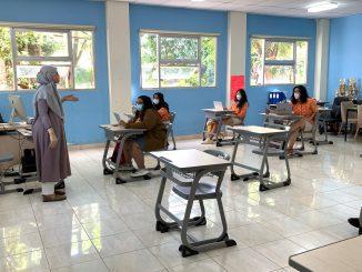 Pembelajaran tatap muka terbatas di SMA Sekolah Cikal Amri-Setu