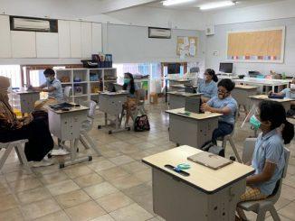 Pembelajaran tatap muka terbatas di Sekolah Cikal Cilandak