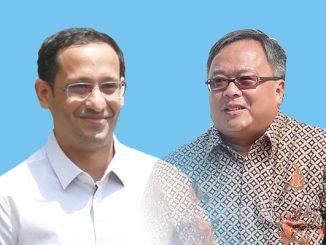 Mendikbud Nadiem Makarim dan Menristek/Kepala BRIN Bambang PS Brodjonegoro. (KalderaNews.com/repro:y.prayogo)
