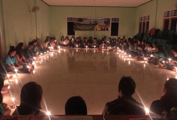 Kegiatan Live in Campus Ministry Universitas Katolik Musi Charitas (UKMC) Palembang