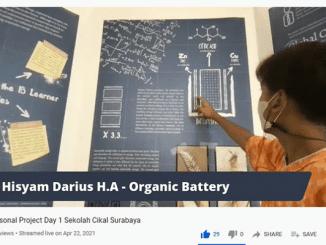 Momen Presentasi proyek Personal Project Sekolah Cikal Surabaya oleh Hisyam pada 22-23 April 2021 melalui kanal youtube Sekolah Cikal Official