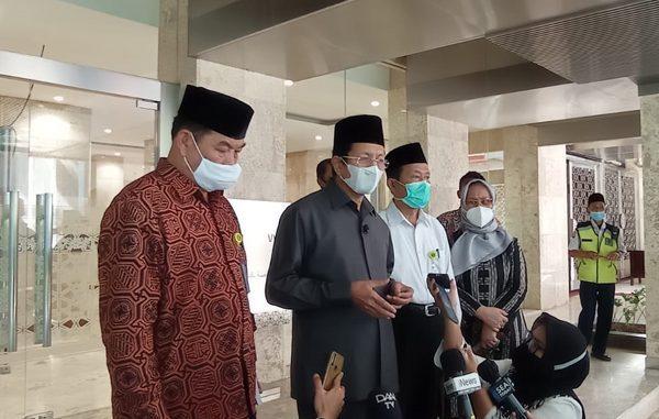 Imam Besar Masjid Istiqlal, Prof. Dr. KH. Nasaruddin Umar, MA, dalam konferensi pers di Masjid Istiqlal, Jakarta. (Ist.)