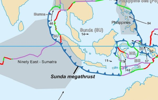 gempa mentawai, zona megathrust,zona subduksi