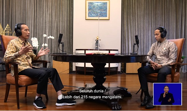 Podcast Hardiknas 2021 Presiden Jokowi dan Mas Menteri Nadiem Makarim, Minggu, 2 Mei 2021