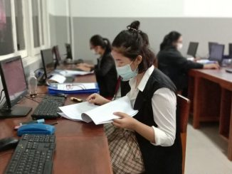 Pelaksanaan Uji Kompetensi Kejuruan (UKK) program keahlian Otomatisasi Tata Kelola Perkantoran (OTKP) di SMK Strada Daan Mogot