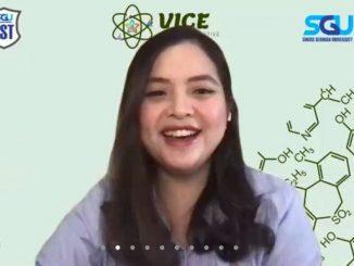 Aktris dan Pendiri Green Movement Indonesia, Tasya Kamila di Virtual Innovative Chemistry Event 2021 (VICE 2021) yang dihelat Swiss German University pada Sabtu, 29 Mei 2021