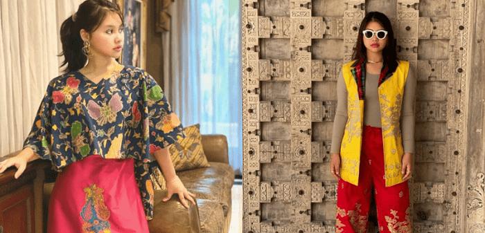 Perpaduan warna cerah di kain tenun Lagosi menunjukkan kesan yang menawan