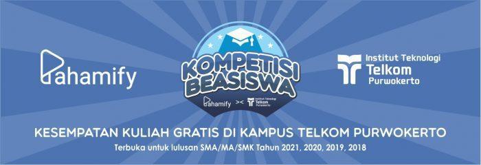 Kompetisi Beasiswa Institut Teknologi Telkom Purwokerto dan Pahamify