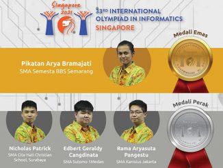Empat palajar Indonesia raih medali di ajang International Olympiad in Informatics 2021. (KalderaNews.com/Dok.Puspresnas)