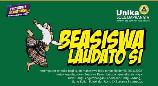 Ilustrasi: Beasiswa Laudato Si, Unika Soegijapranata Semarang. (KalderaNews.com/Ist.)