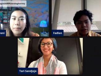 Psikolog sekaligus Direktur Akademik Sekolah Cikal, Tari Sandjojo M.Psi di gelaran Playground of Learning Journey Day 1