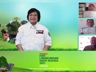 Menteri Lingkungan Hidup dan Kehutanan Republik Indonesia, Siti Nurbaya Bakar mengumumkan dua pemenang Climate Adaptation Challenge (CAC) 2021 secara virtual