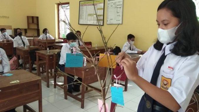 Sekolah di Yogyakarta melakukan uji soba PTM Terbatas. (KalderaNews.com/Ist.)