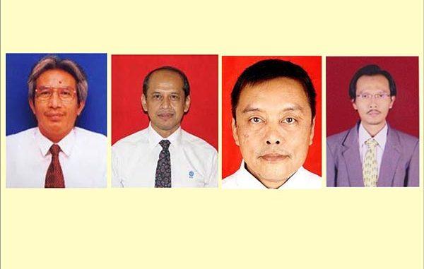Empat peneliti LIPI yang akan dikukuhkan sebagai Profesor Riset. (KalderaNews.com/Dok.LIPI)
