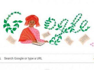 Google doodle Sariamin Ismail. (KalderaNews.com/y.prayogo)