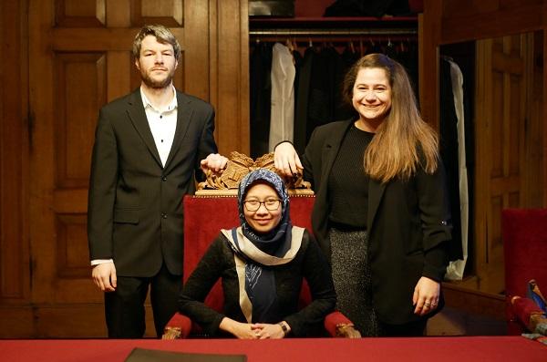 Isti Hidayati bersama teman-teman kuliahnya di University of Groningen