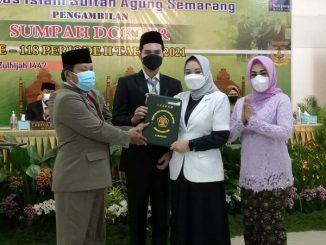 Peneyerahan Ijazah untuk Dokter Baru Lulusan Universitas Sultan Agung Semarang