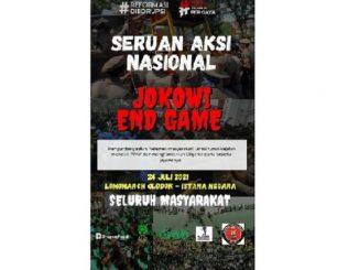 Ilustrasi: Poster ajakan aksi bertajuk Jokowi End Game yang viral di media sosial. (KalderaNews.com/Ist.)