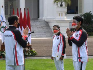 Suasana saat pemberangkatan Kontingen Indonesia menuju Olimpiade Tokyo 2021