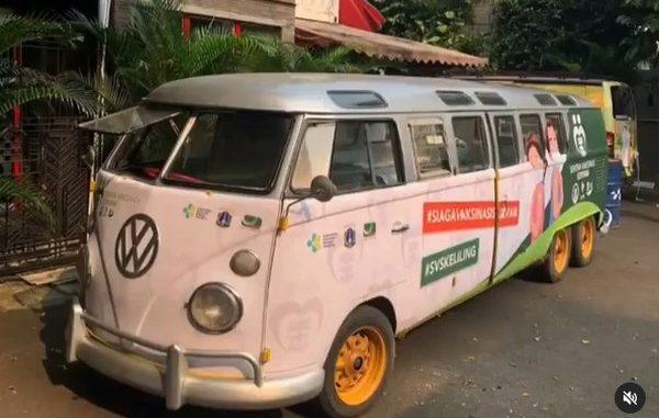 VW Kombi yang akan ikut dalam program vaksinasi keliling Sentra Vaksinasi Serviam. (KalderaNews.com/Ist.)