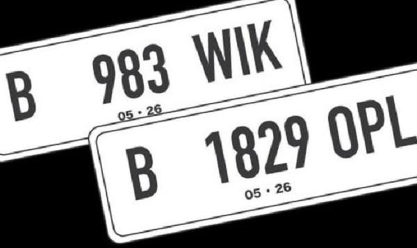 Ilustrasi: Pelat nomor kendaraan bermotor yang baru. (KalderaNews.com/Ist.)
