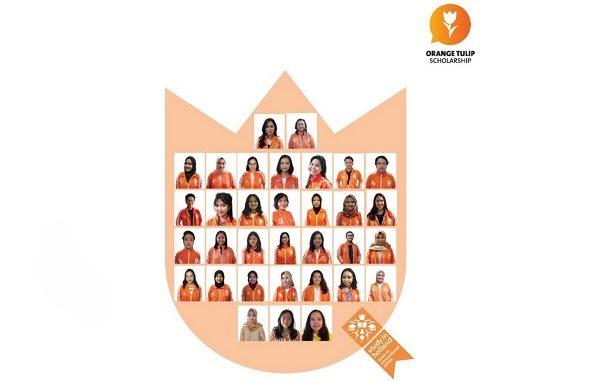Para penerima beasiswa Orange Tulip Scholarship (OTS) 2021-2022