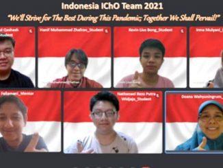 Pelajar Indonesia yang meraih 4 medali di Olimpiade Kimia Internasional 2021. (KalderaNews.com/Dok.Puspresnas)