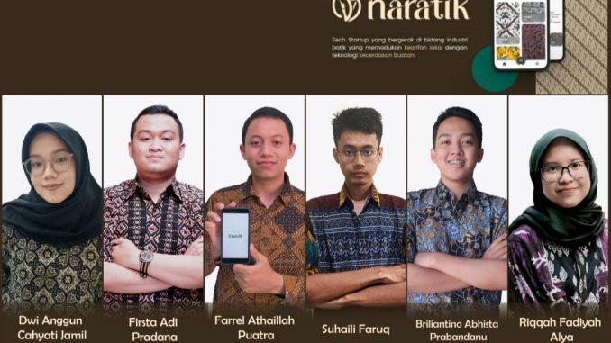 Enam mahasiswa yang berhasil membuat inovasi aplikasi Naratik. (KalderaNews.com/Dok.Udinus)