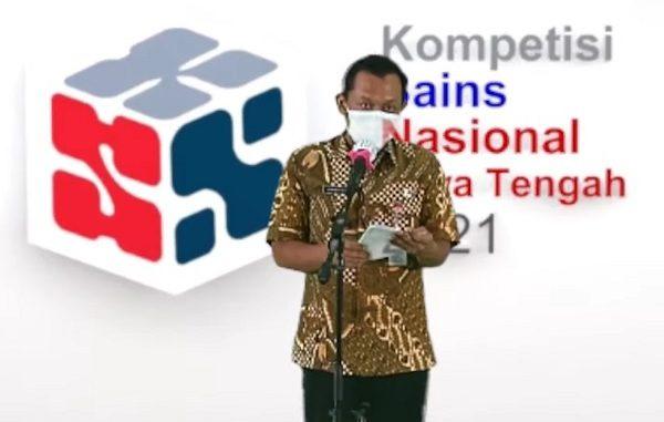 Kepala Bidang Pembinaan SMA Dinas Pendidikan dan Kebudayaan (Disdikbud) Provinsi Jateng Syamsudin Isnaini
