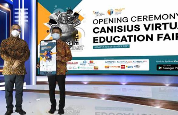 Pameran pendidikan virtual SMA Kolese Kanisius Jakarta. (KalderaNews.com/Ist.)