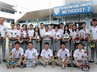Peserta didik SMA Methodist-2 Medan