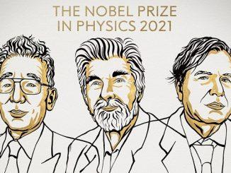 Syukuro Manabe, Klaus Hasselmann, Giorgio Parisi memenangkan Hadiah Nobel Fisika 2021. (KalderaNews.com/@NobelPrize)